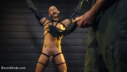 Photo number 13 from Caged: Max Ferro Locks Up And Abuses Joseph Banks shot for Bound Gods on Kink.com. Featuring Max Ferro and Joseph Banks in hardcore BDSM & Fetish porn.