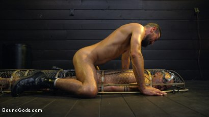 Photo number 19 from Caged: Max Ferro Locks Up And Abuses Joseph Banks shot for Bound Gods on Kink.com. Featuring Max Ferro and Joseph Banks in hardcore BDSM & Fetish porn.