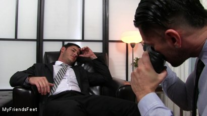 Photo number 3 from Rego Dominates Alex With His Feet shot for My Friends Feet on Kink.com. Featuring Alexander Garrett and Rego Bello in hardcore BDSM & Fetish porn.