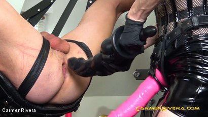 """Photo number 4 from Verarscht: Chapter Two shot for Carmen Rivera on Kink.com. Featuring Carmen Rivera, Mister P., Chris """"Schock"""" Cock and Queen Jennifer Carter in hardcore BDSM & Fetish porn."""