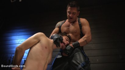 Photo number 17 from Obedient Slave, Marcus Rivers Serves Dominic Pacifico shot for Bound Gods on Kink.com. Featuring Dominic Pacifico and Marcus Rivers in hardcore BDSM & Fetish porn.