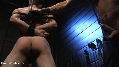 Photo number 19 from Obedient Slave, Marcus Rivers Serves Dominic Pacifico shot for Bound Gods on Kink.com. Featuring Dominic Pacifico and Marcus Rivers in hardcore BDSM & Fetish porn.