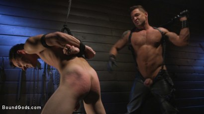 Photo number 20 from Obedient Slave, Marcus Rivers Serves Dominic Pacifico shot for Bound Gods on Kink.com. Featuring Dominic Pacifico and Marcus Rivers in hardcore BDSM & Fetish porn.