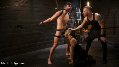 Photo number 12 from Tongued and Tickled: Scott DeMarco kept on edge shot for Men On Edge on Kink.com. Featuring Scott DeMarco in hardcore BDSM & Fetish porn.