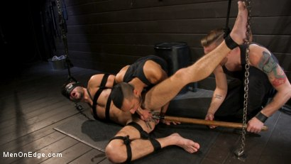 Photo number 13 from Tongued and Tickled: Scott DeMarco kept on edge shot for Men On Edge on Kink.com. Featuring Scott DeMarco in hardcore BDSM & Fetish porn.