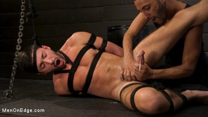 Photo number 9 from Tongued and Tickled: Scott DeMarco kept on edge shot for Men On Edge on Kink.com. Featuring Scott DeMarco in hardcore BDSM & Fetish porn.