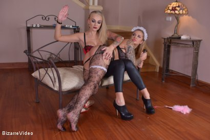 Photo number 3 from A Maid's Education shot for Bizarre Video on Kink.com. Featuring Maisie Rain and Kayla Green in hardcore BDSM & Fetish porn.