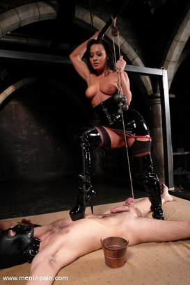 Photo number 4 from Lefty and Sandra Romain shot for Men In Pain on Kink.com. Featuring Sandra Romain and Lefty in hardcore BDSM & Fetish porn.
