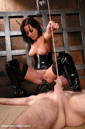 Photo number 7 from Lefty and Sandra Romain shot for Men In Pain on Kink.com. Featuring Sandra Romain and Lefty in hardcore BDSM & Fetish porn.