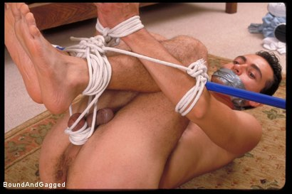Photo number 3 from Tit for Tat: Eric Estevez Bound shot for Bound And Gagged on Kink.com. Featuring Eric Estevez in hardcore BDSM & Fetish porn.