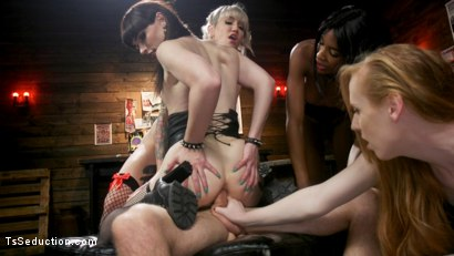 Photo number 20 from Slag Angels on Wheels: Episode 3 shot for TS Seduction on Kink.com. Featuring Natassia Dreams, Pierce Paris, Natalie Mars , Lena Kelly and Shiri Allwood in hardcore BDSM & Fetish porn.