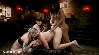 Photo number 25 from Slag Angels on Wheels: Episode 3 shot for TS Seduction on Kink.com. Featuring Natassia Dreams, Pierce Paris, Natalie Mars , Lena Kelly and Shiri Allwood in hardcore BDSM & Fetish porn.