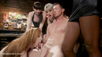 Photo number 2 from Slag Angels on Wheels: Episode 3 shot for TS Seduction on Kink.com. Featuring Natassia Dreams, Pierce Paris, Natalie Mars , Lena Kelly and Shiri Allwood in hardcore BDSM & Fetish porn.