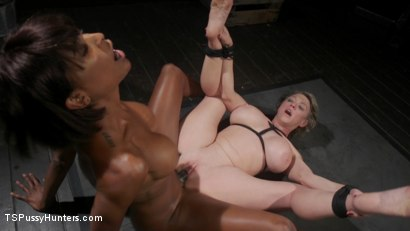 Photo number 18 from Exquisite Anguish: Dee Williams Opens Up For Natassia Dreams shot for TS Pussy Hunters on Kink.com. Featuring Natassia Dreams and Dee Williams in hardcore BDSM & Fetish porn.