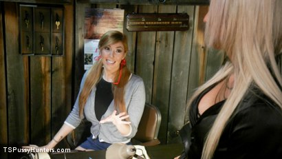 Photo number 2 from Kayleigh Coxx Punishes Peeping Motel Manager Lauren Phillips shot for TS Pussy Hunters on Kink.com. Featuring Lauren Phillips and Kayleigh Coxx in hardcore BDSM & Fetish porn.