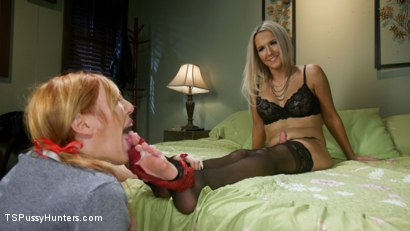 Photo number 6 from Kayleigh Coxx Punishes Peeping Motel Manager Lauren Phillips shot for TS Pussy Hunters on Kink.com. Featuring Lauren Phillips and Kayleigh Coxx in hardcore BDSM & Fetish porn.