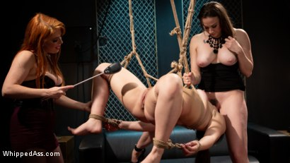 Photo number 3 from Service Slut Training: Bad Waitress Strap-On DP'd shot for Whipped Ass on Kink.com. Featuring Chanel Preston, Penny Pax and Kimber Woods in hardcore BDSM & Fetish porn.