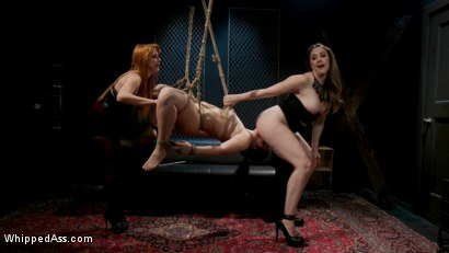 Photo number 24 from Service Slut Training: Bad Waitress Strap-On DP'd shot for Whipped Ass on Kink.com. Featuring Chanel Preston, Penny Pax and Kimber Woods in hardcore BDSM & Fetish porn.