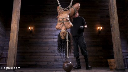 Photo number 9 from Brand New Ebony Slut Demi Sutra Gets Tied and Tormented shot for Hogtied on Kink.com. Featuring Demi Sutra in hardcore BDSM & Fetish porn.
