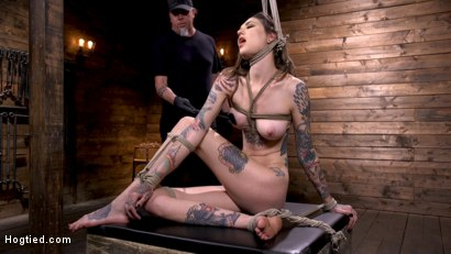 Photo number 1 from Tall Tattooed Slut in Grueling Bondage is Blissfully Suffering shot for Hogtied on Kink.com. Featuring Rocky Emerson in hardcore BDSM & Fetish porn.