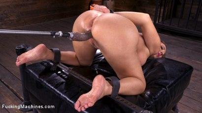 Photo number 5 from Bodacious Curvy Babe is Bound and Fucked with Machines shot for Fucking Machines on Kink.com. Featuring Richelle Ryan in hardcore BDSM & Fetish porn.