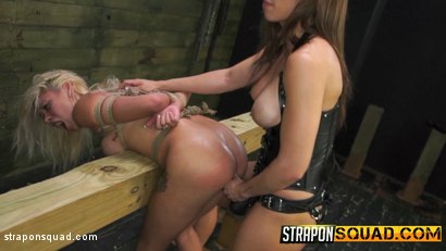 Photo number 16 from Marsha May Loves Rope Bondage & Lesbian Domination with Kylie Rogue shot for Strapon Squad on Kink.com. Featuring Marsha May and Kylie Rogue in hardcore BDSM & Fetish porn.