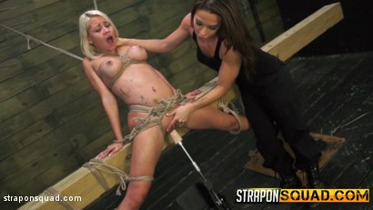 Photo number 3 from Marsha May Loves Rope Bondage & Lesbian Domination with Kylie Rogue shot for Strapon Squad on Kink.com. Featuring Marsha May and Kylie Rogue in hardcore BDSM & Fetish porn.