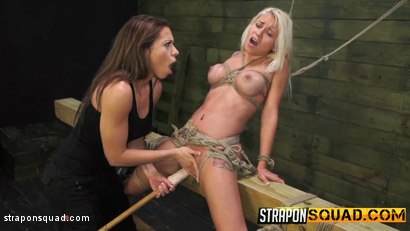 Photo number 7 from Marsha May Loves Rope Bondage & Lesbian Domination with Kylie Rogue shot for Strapon Squad on Kink.com. Featuring Marsha May and Kylie Rogue in hardcore BDSM & Fetish porn.