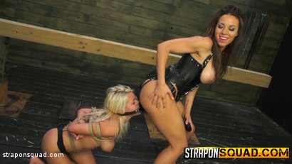 Photo number 9 from Marsha May Loves Rope Bondage & Lesbian Domination with Kylie Rogue shot for Strapon Squad on Kink.com. Featuring Marsha May and Kylie Rogue in hardcore BDSM & Fetish porn.