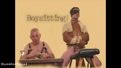 Photo number 2 from Boysitting: Boy Meets Boysitter shot for Bound And Gagged on Kink.com. Featuring Oskar and Sean Patrick in hardcore BDSM & Fetish porn.