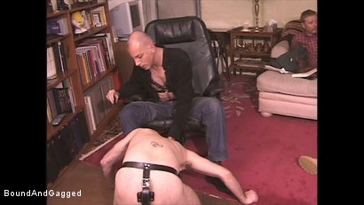 Photo number 13 from Boysitting: Boy Meets Boysitter shot for Bound And Gagged on Kink.com. Featuring Oskar and Sean Patrick in hardcore BDSM & Fetish porn.