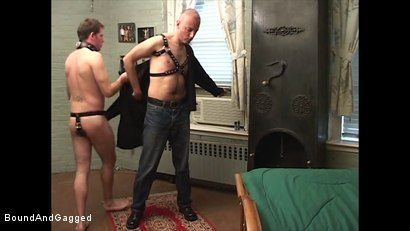 Photo number 17 from Boysitting: Boy Meets Boysitter shot for Bound And Gagged on Kink.com. Featuring Oskar and Sean Patrick in hardcore BDSM & Fetish porn.
