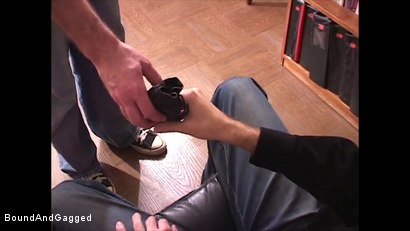 Photo number 4 from Boysitting: Boy Meets Boysitter shot for Bound And Gagged on Kink.com. Featuring Oskar and Sean Patrick in hardcore BDSM & Fetish porn.