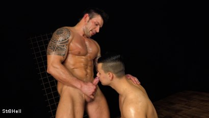 Photo number 12 from Two hunks Paul Hunter and Rado Zuska go at it shot for Str8Hell on Kink.com. Featuring Paul Hunter and Rado Zuska in hardcore BDSM & Fetish porn.