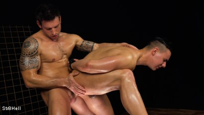 Photo number 7 from Two hunks Paul Hunter and Rado Zuska go at it shot for Str8Hell on Kink.com. Featuring Paul Hunter and Rado Zuska in hardcore BDSM & Fetish porn.