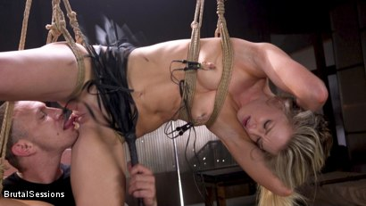 Photo number 2 from Girl Next Door Kate Kennedy Tied in Rope Bondage and Fucked shot for Brutal Sessions on Kink.com. Featuring Mr. Pete and Kate Kennedy in hardcore BDSM & Fetish porn.