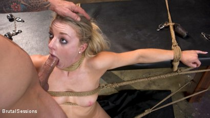 Photo number 12 from Girl Next Door Kate Kennedy Tied in Rope Bondage and Fucked shot for Brutal Sessions on Kink.com. Featuring Mr. Pete and Kate Kennedy in hardcore BDSM & Fetish porn.