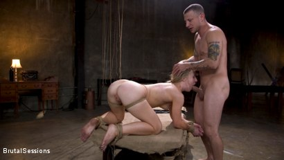 Photo number 18 from Girl Next Door Kate Kennedy Tied in Rope Bondage and Fucked shot for Brutal Sessions on Kink.com. Featuring Mr. Pete and Kate Kennedy in hardcore BDSM & Fetish porn.