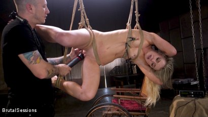 Photo number 3 from Girl Next Door Kate Kennedy Tied in Rope Bondage and Fucked shot for Brutal Sessions on Kink.com. Featuring Mr. Pete and Kate Kennedy in hardcore BDSM & Fetish porn.