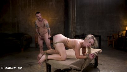 Photo number 22 from Girl Next Door Kate Kennedy Tied in Rope Bondage and Fucked shot for Brutal Sessions on Kink.com. Featuring Mr. Pete and Kate Kennedy in hardcore BDSM & Fetish porn.