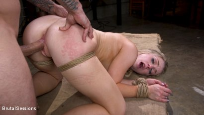 Photo number 26 from Girl Next Door Kate Kennedy Tied in Rope Bondage and Fucked shot for Brutal Sessions on Kink.com. Featuring Mr. Pete and Kate Kennedy in hardcore BDSM & Fetish porn.