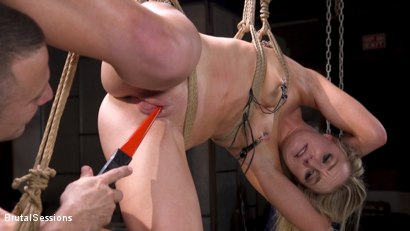 Photo number 4 from Girl Next Door Kate Kennedy Tied in Rope Bondage and Fucked shot for Brutal Sessions on Kink.com. Featuring Mr. Pete and Kate Kennedy in hardcore BDSM & Fetish porn.