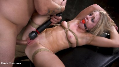 Photo number 34 from Girl Next Door Kate Kennedy Tied in Rope Bondage and Fucked shot for Brutal Sessions on Kink.com. Featuring Mr. Pete and Kate Kennedy in hardcore BDSM & Fetish porn.