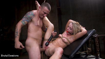 Photo number 36 from Girl Next Door Kate Kennedy Tied in Rope Bondage and Fucked shot for Brutal Sessions on Kink.com. Featuring Mr. Pete and Kate Kennedy in hardcore BDSM & Fetish porn.