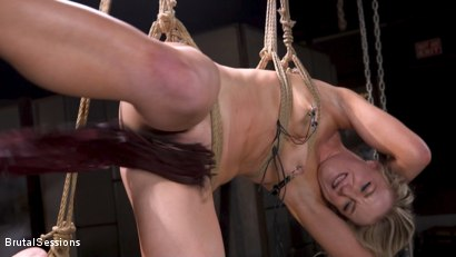 Photo number 5 from Girl Next Door Kate Kennedy Tied in Rope Bondage and Fucked shot for Brutal Sessions on Kink.com. Featuring Mr. Pete and Kate Kennedy in hardcore BDSM & Fetish porn.