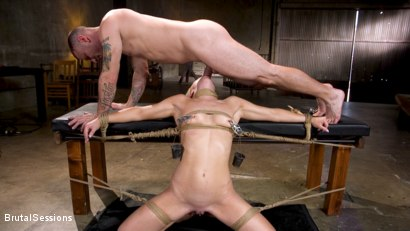 Photo number 6 from Girl Next Door Kate Kennedy Tied in Rope Bondage and Fucked shot for Brutal Sessions on Kink.com. Featuring Mr. Pete and Kate Kennedy in hardcore BDSM & Fetish porn.