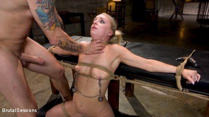 Photo number 9 from Girl Next Door Kate Kennedy Tied in Rope Bondage and Fucked shot for Brutal Sessions on Kink.com. Featuring Mr. Pete and Kate Kennedy in hardcore BDSM & Fetish porn.