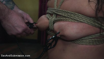 Photo number 5 from  Sexual Interrogation shot for Sex And Submission on Kink.com. Featuring Tommy Pistol and Victoria Voxxx in hardcore BDSM & Fetish porn.