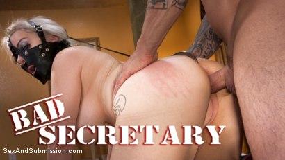 Bad Secretary: Newcomer Nadia White gets punished!
