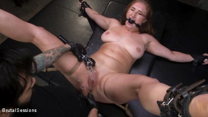 Curvy Squirt Goddess Skylar Snow Rough Anal And Rope Bondage Fuck